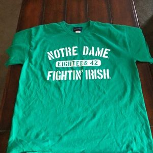 Notre Dame eighteen 42 unisex tee shirt